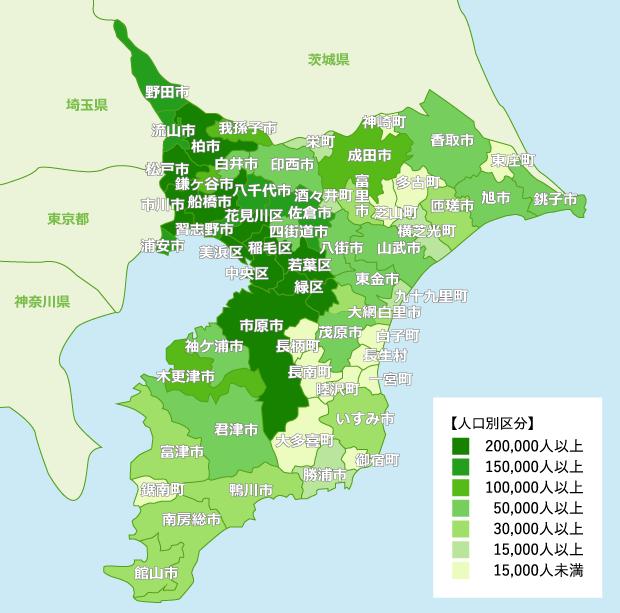 千葉県 地域別人口