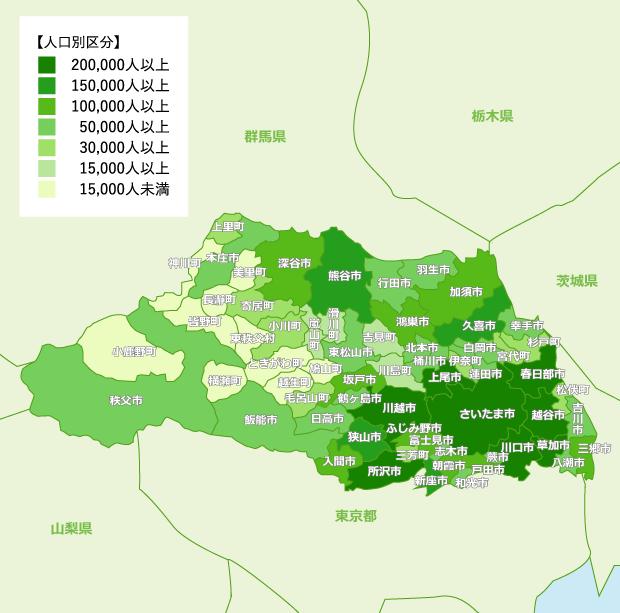 埼玉県 地域別人口