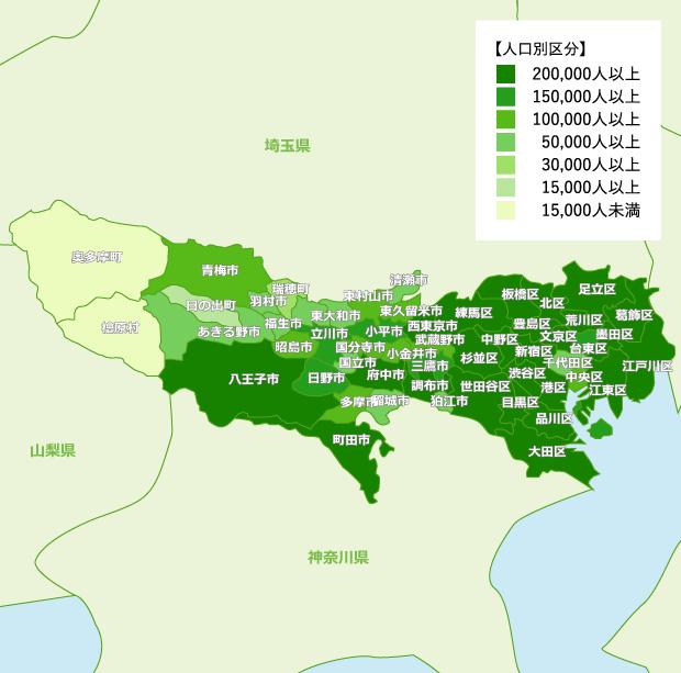 東京都 地域別人口